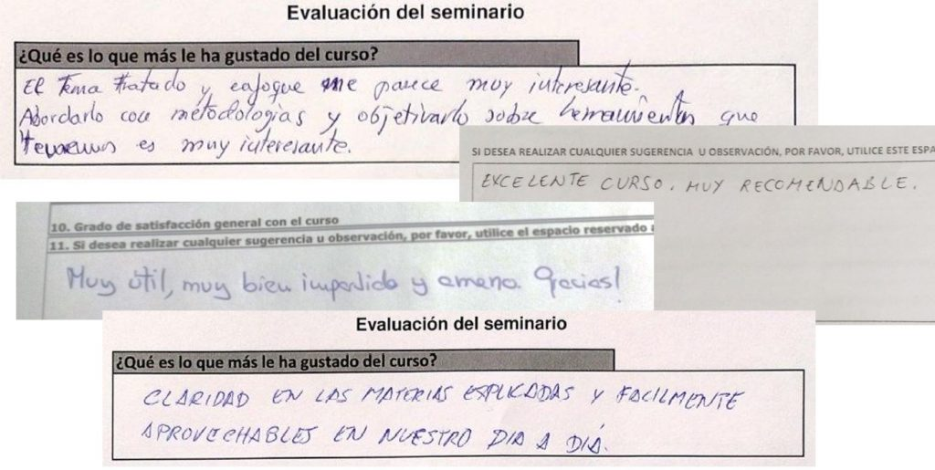 Valoraciones formación FUNDAE Rafa García